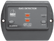 BEP GAS DETECTOR complete with 1 SENSOR & SOLENOID OUTPUT.  Incl. VAT